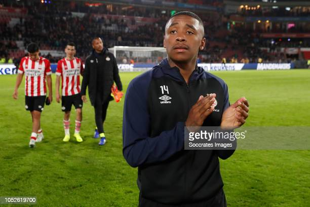 Donyell Malen of PSV during the Dutch Eredivisie match between PSV v FC Emmen at the Philips Stadium on October 20 2018 in Eindhoven Netherlands
