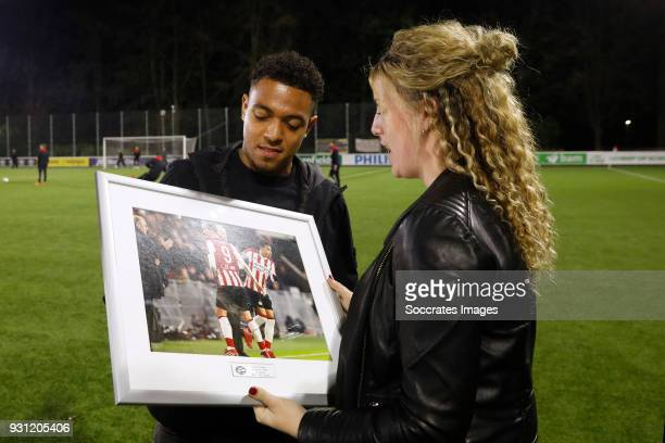 Donyell Malen of PSV during the Dutch Jupiler League match between PSV U23 v SC Cambuur at the De Herdgang on March 12 2018 in Eindhoven Netherlands