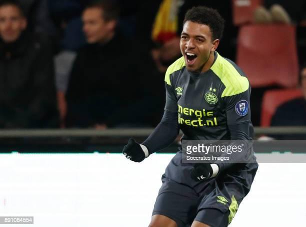 Donyell Malen of PSV U23 Celebrate goal during the Dutch Jupiler League match between Go Ahead Eagles v PSV U23 at the De Adelaarshorst on December...