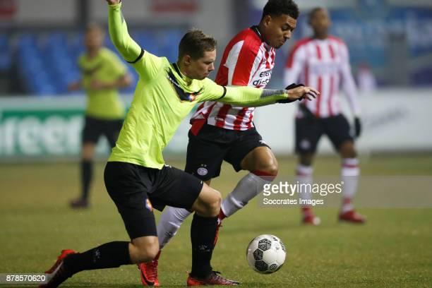 Donyell Malen of PSV U23 during the Dutch Eredivisie match between PSV U23 v Telstar at the De Herdgang on November 24 2017 in Eindhoven Netherlands