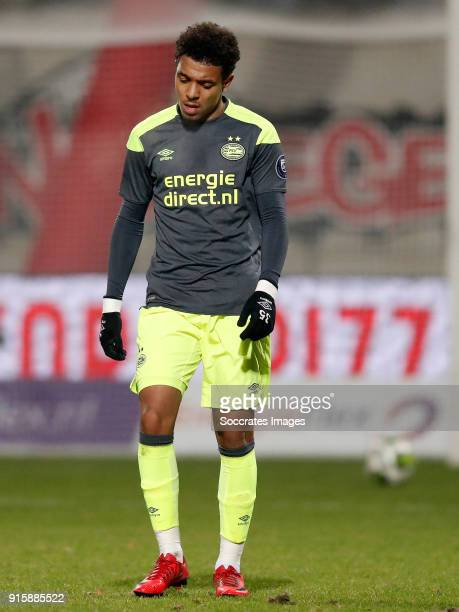 Donyell Malen of PSV U23 during the Dutch Jupiler League match between NEC Nijmegen v PSV U23 at the Goffert Stadium on February 8, 2018 in Nijmegen...