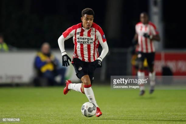 Donyell Malen of PSV U23 during the Dutch Jupiler League match between PSV U23 v FC Emmen at the De Herdgang on March 5 2018 in Eindhoven Netherlands