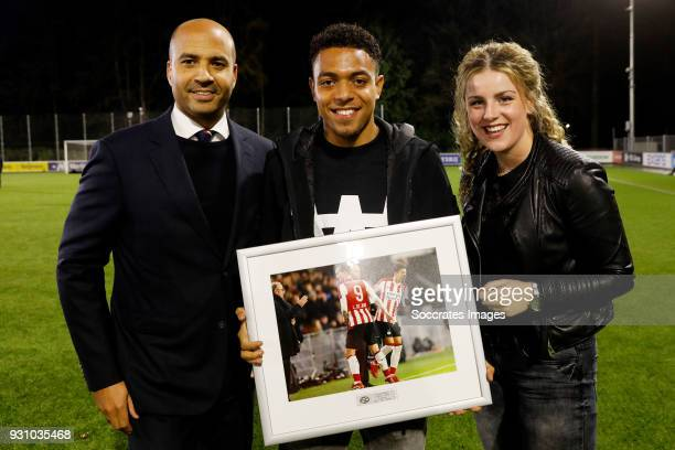 Donyell Malen of PSV U23 during the Dutch Jupiler League match between PSV U23 v SC Cambuur at the De Herdgang on March 12 2018 in Eindhoven...