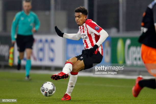 Donyell Malen of PSV U23 during the Dutch Jupiler League match between PSV U23 v FC Volendam at the De Herdgang on March 16 2018 in Eindhoven...