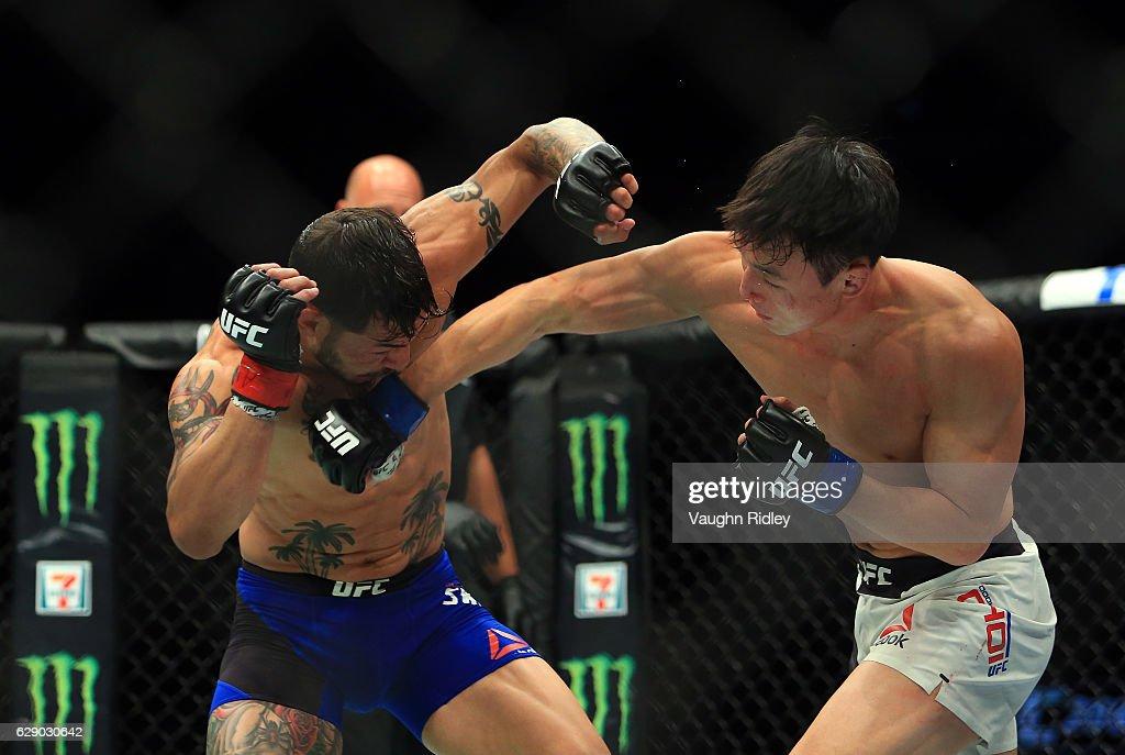UFC 206: Swanson v Choi : News Photo