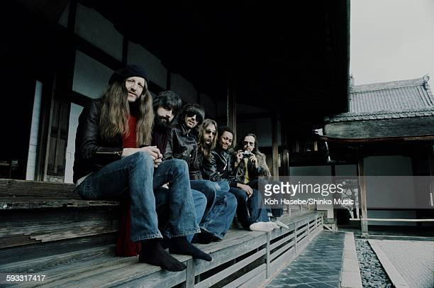 Doobie Brothers at the temple in Kyoto, Kyoto, January 1976.