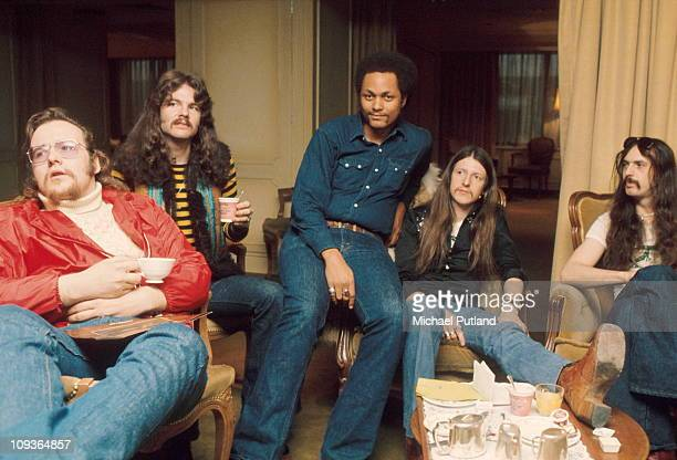 Doobie Brothers group portrait London 1974