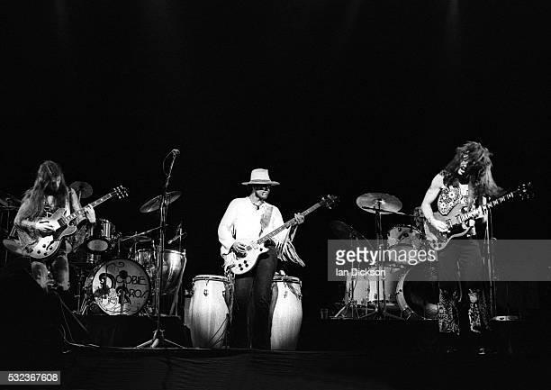 Doobie Brothers performing on stage, The Rainbow, London, United Kingdom, 1975.