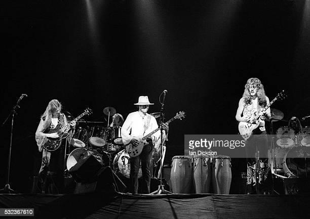 Doobie Brothers performing on stage The Rainbow London United Kingdom 1975
