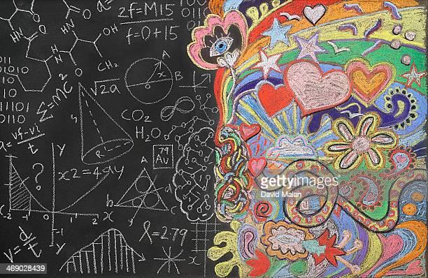 Doodles on a blackboard