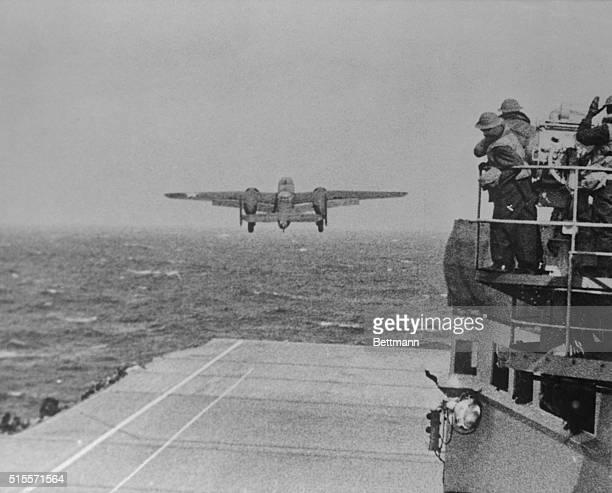 Doolittle Raid on TokyoB25 Leaves USS Hornet