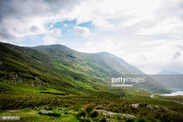 Doolough valley in the Sheeffry Hills of County Mayo, Ireland