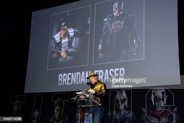 Doom Patrol's Brendan Fraser makes special appearance during DC UNIVERSE's Titans World Premiere on October 3 2018 in New York City