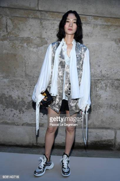 Doona Bae attends the Louis Vuitton show as part of the Paris Fashion Week Womenswear Fall/Winter 2018/2019 on March 6 2018 in Paris France