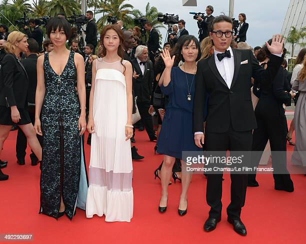 Doona Bae Kim Sae Ron July Jung and Song Sae Byuk attend the 'Foxcatcher' Premiere at the 67th Annual Cannes Film Festival on May 19 2014 in Cannes...