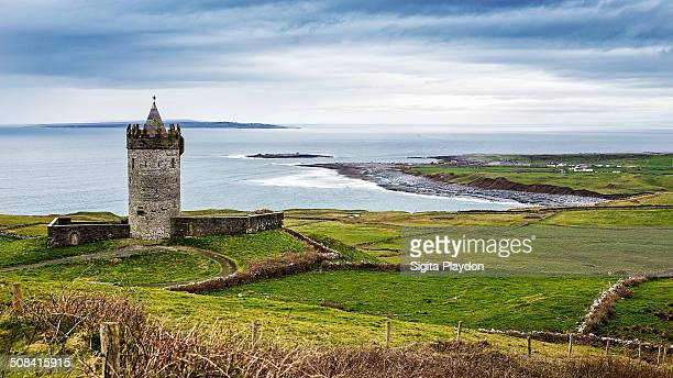 CONTENT] Doonagore Castle is situated on a hill about half way between the village of Doolin and the Cliffs of Moher on the County Clare coast The...