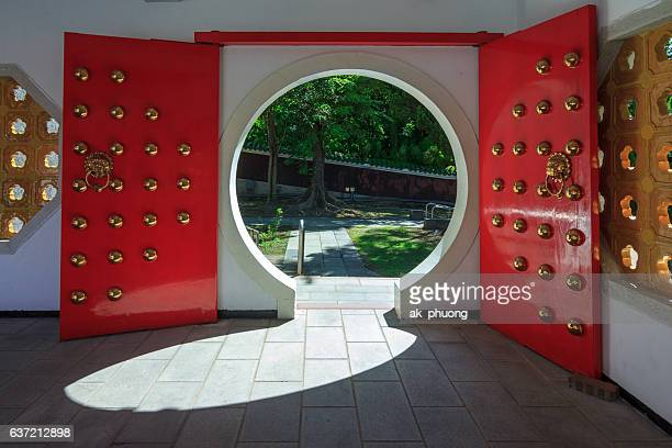 A door at Martyrs Shrine Taipei Taiwan