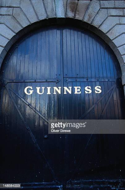 a door at the guinness factory / brewery - dublin, county dublin - guinness stock pictures, royalty-free photos & images