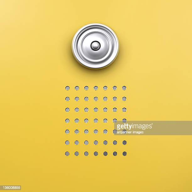 door bell with intercom speaker - intercom stock pictures, royalty-free photos & images