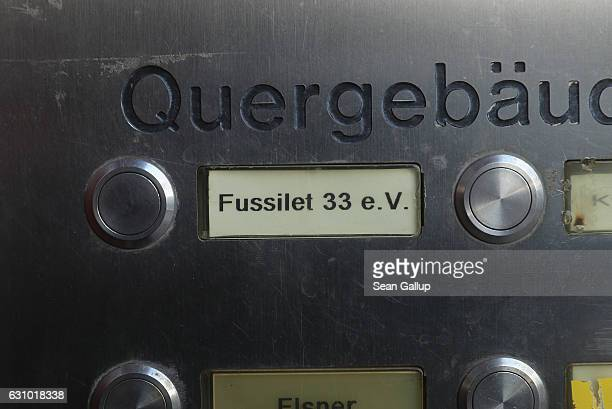 A door buzzer bears the name of the former Fussilet 33 mosque in Perleberger Strasse street on January 5 2017 in Berlin Germany According to police...