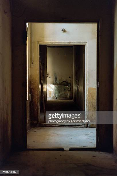 Door cases in an abandoned house