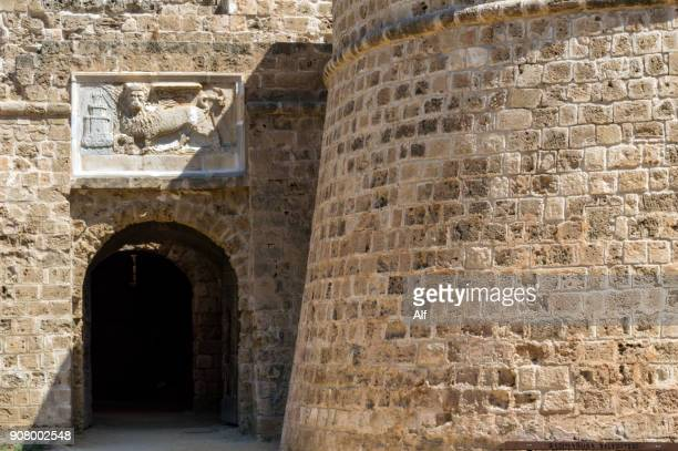 Door castle in in Famagusta (building exterior) , Cyprus