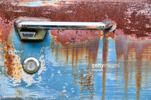 Door handle of an abandoned car