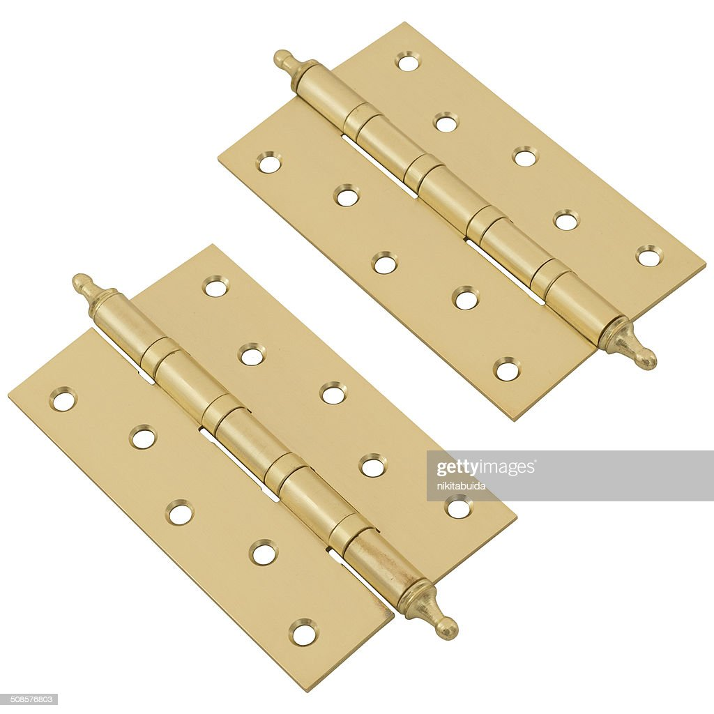Door hinges on white : Stock Photo