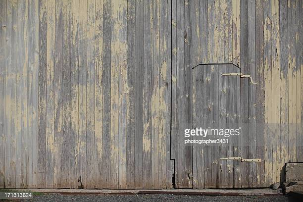 Door in a barn wall