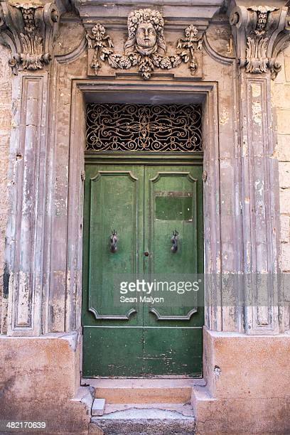 Door in medieval walled city, Mdina, Malta
