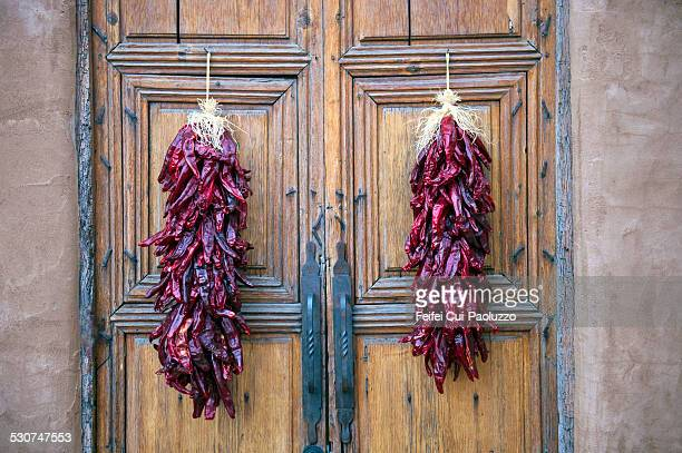 door in santa fe-new mexico usa - santa fe province stock photos and pictures