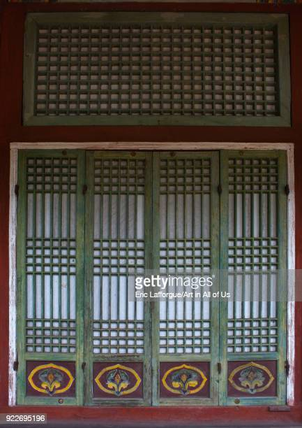 Door in the former royal villa of Ri Song Gye founder of the choson dynasty South Hamgyong Province Hamhung North Korea on September 11 2012 in...