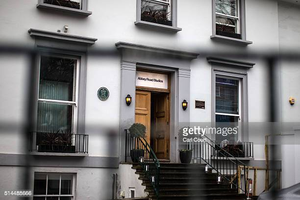 A door is opened at Abbey Road Studios where Beatles producer George Martin worked on March 9 2016 in London England Mr Martin who produced the...