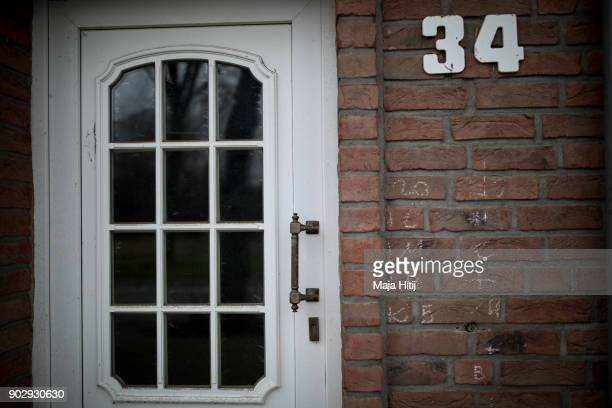 Door is shut in an abandoned house on January 9 2018 in Immerath Germany The village of Immerath will be completely razed in order to make way for...
