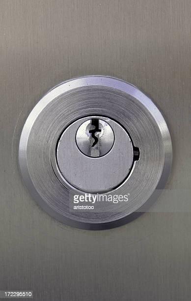 Türverschluss mit Keyhole-Ausschnitt