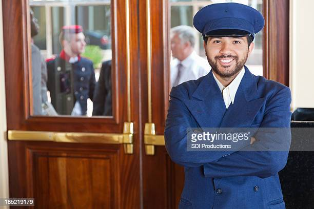 Door man portrait at a 5-Star hotel entrance