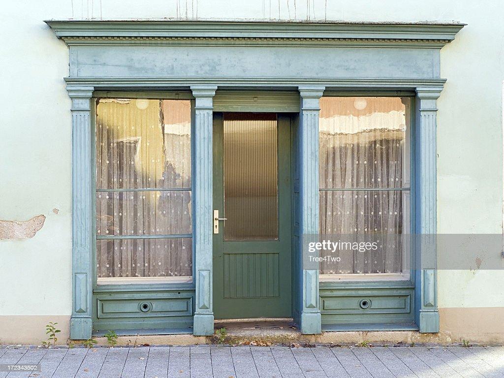 Door of an old shop : Stock Photo