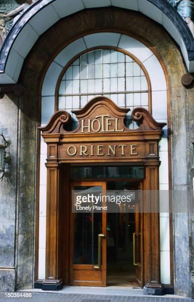 Door of Hotel Oriente, La Rambla.