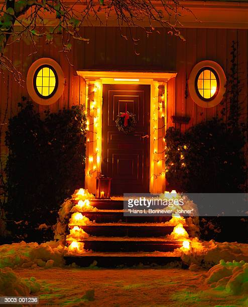 Door of House at Christmas