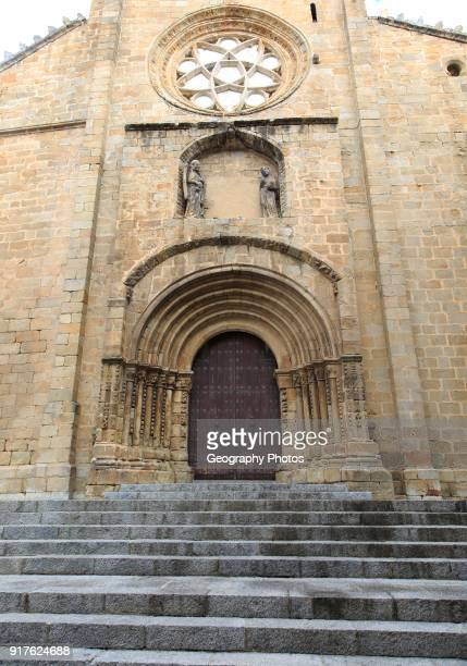 Door of old cathedral Cathedral Vieja Plasencia Caceres province Extremadura Spain