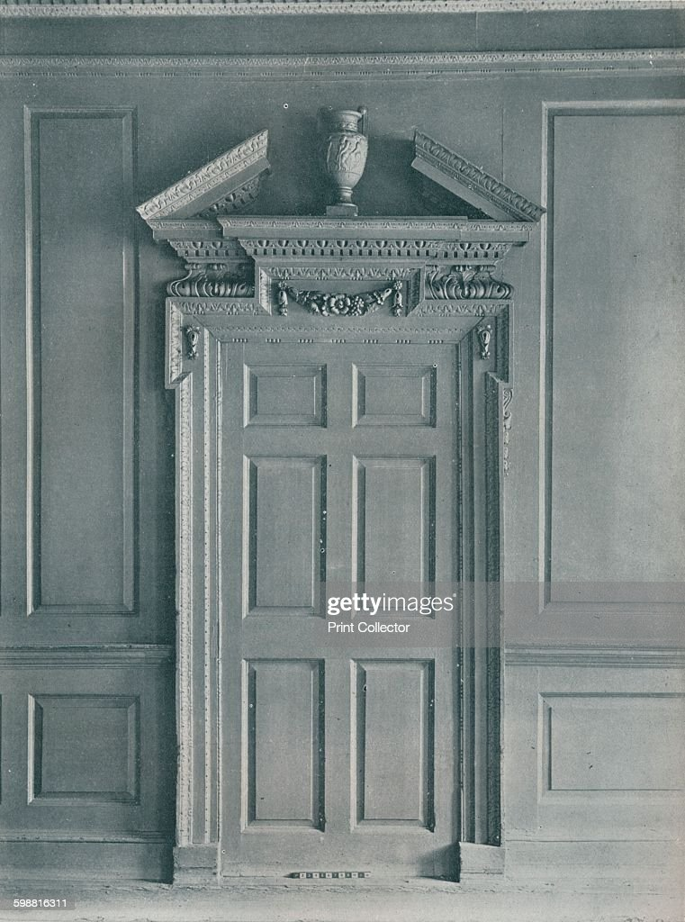 Door Of Panelled Room Early Georgian 26 Hatton Garden C1909