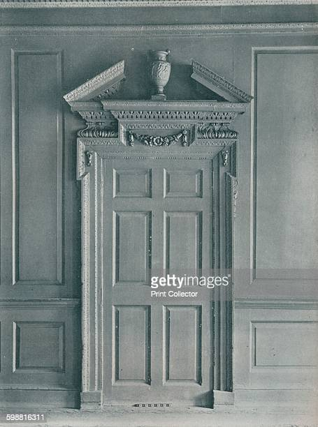 Door of Panelled Room, Early Georgian Hatton Garden, circa 1909. This door is part of a room interior which was moved to the Victoria and Alebert...