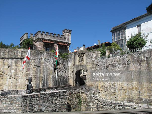 Door of Santa Maria in Hondarribia is one of the entrance doors to the walled city built in the XVI century Guipuzcoa Basque Country Spain