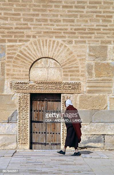 Door of the minaret Mosque of 'Uqba or Great Mosque of Kairouan Kairouan Governorate Tunisia 9th century