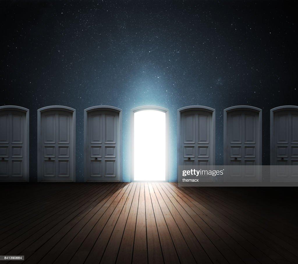 Deur geopend licht : Stockfoto
