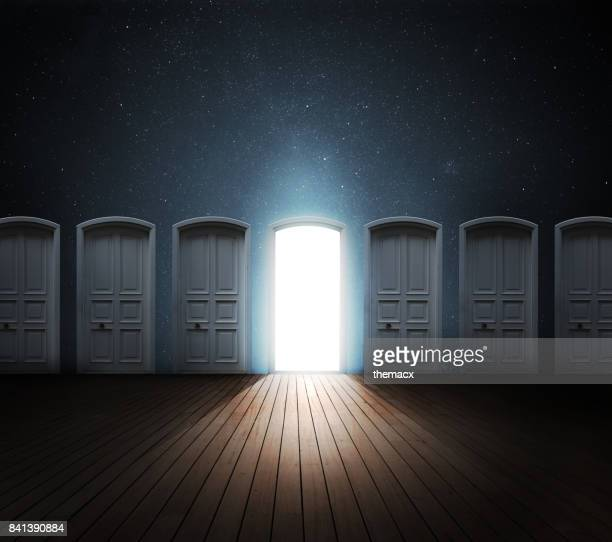 door opened light - mystery stock pictures, royalty-free photos & images