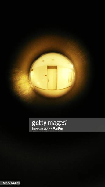 Door Seen Through Peephole