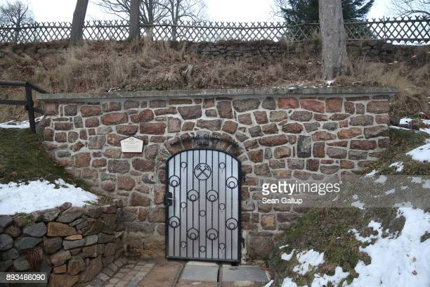 A door to a former centuriesold mine stands shut outside a mining museum on December 13 2017 in the former mining town of Altenberg Germany Altenberg...