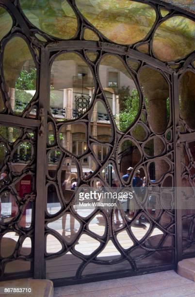 Door to Casa Mila, Barcelona.