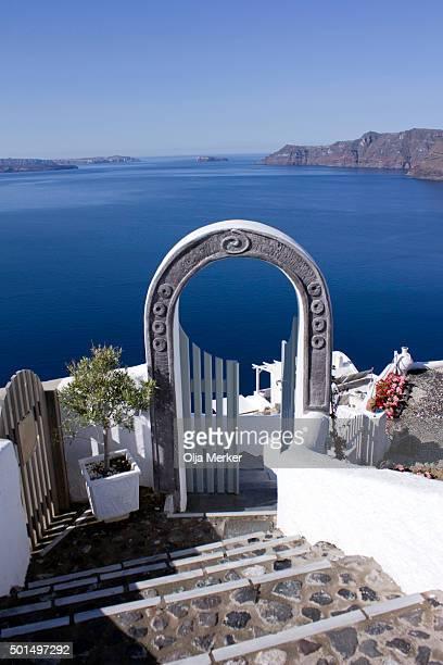 Door to the blue sea, Oia, Santorini, Greece